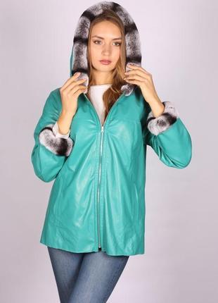Куртка женская натуральная кожа с мехом брендовая турецкая демисезонная распродажа