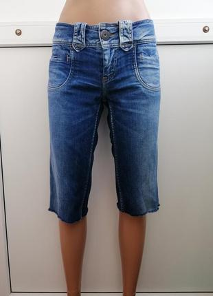 Бриджи джинсовые синие