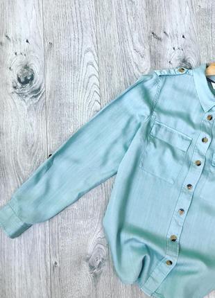 Актуальна сорочка з нашивними карманами і ґудзиками під дерево❤️