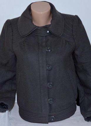 Брендовое серое демисезонное шерстяное пальто полупальто на молнии dept белоруссия