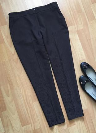 Доступно - стильные брюки из фактурной ткани *hobbs london* 12 р.
