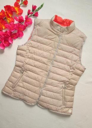 Фирменный ультратонкая двусторонняя теплая жилетка куртка пуховик marc o`polo оригинал