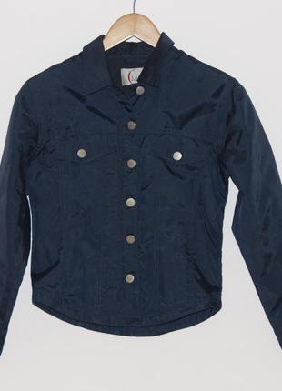 Куртка-ветровка-пиджак приталенная xs
