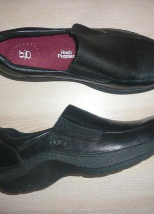 Закрытые туфли кожа 40-41 р 7 р стелька 26 hush puppies