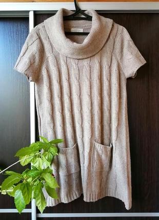Шикарное вязаное платье сукня (акрил, нейлон, шерсть) debenhams
