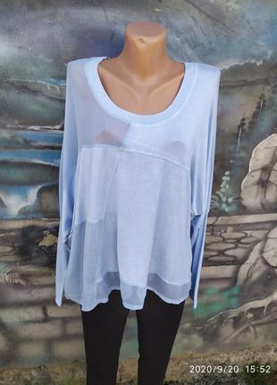 Блуза в стиле бохо реглан италия