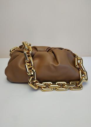 Распродажа🔥сумка сумочка облако пельмень в стиле bottega veneta the chain pouch на цепи