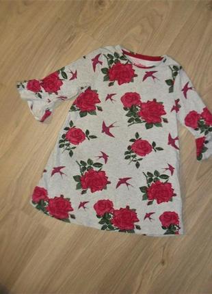 Платье трикотажное на 5-6лет рост 116