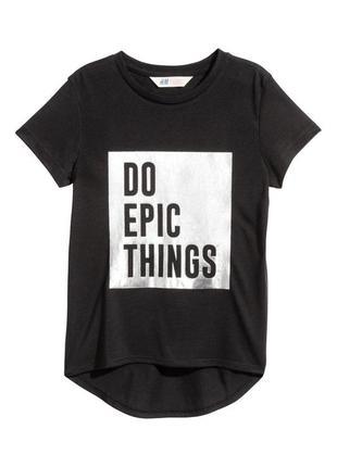H&m стильная футболка для девочки