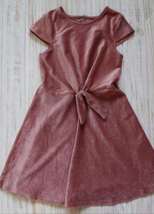Велюровое платье primark на 6-7лет