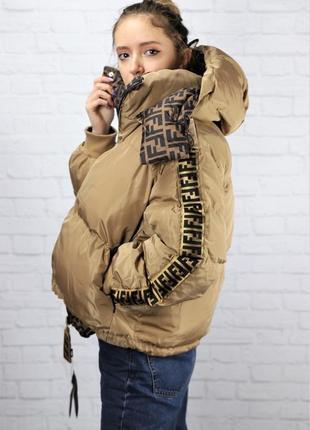 Куртка женская fendi фенди двухсторонняя