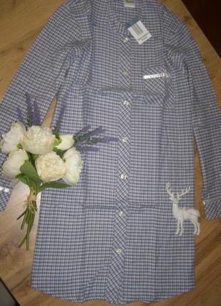 Платье-халат 100% хлопок, фланель от queentex s (36/38). германия