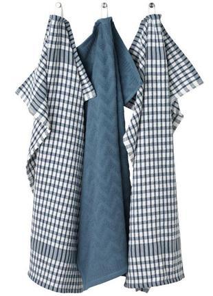 Кухонные полотенца ,в наборе 3 шт синие