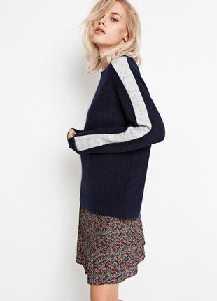 Оверсайз свитер с лампасами envil  30 % шерсти
