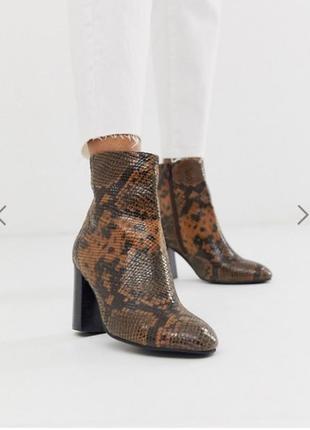 Новые кожаные ботинки под рептилию