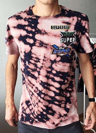 Кастомная футболка тай дай superdry