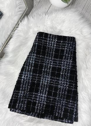 Твидовая юбка на осень