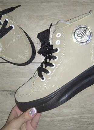 Ботинки осень 🍁 деми на флисе осенние платформа