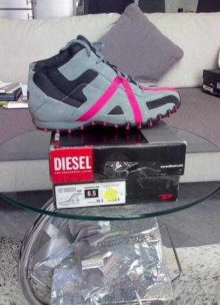 Высокие кроссовки- ботинки diesel 36