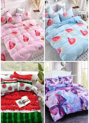 Комплекты постельного белья всех размеров арбуз, комплекти постільної білизни