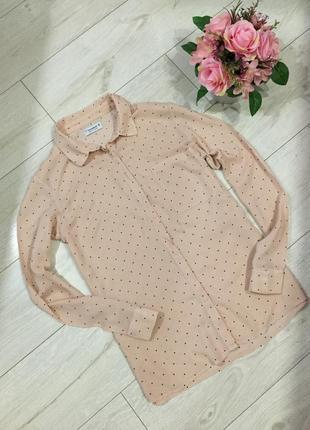 Нежная блуза в горох pull & bear
