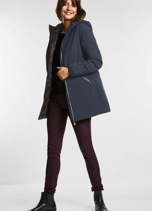 Теплая фирменная софтшел куртка евро зима от немецкого бренда street one 38, m-l