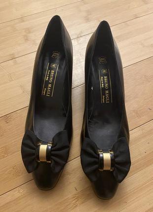 Туфли bruno magli кожаные итальянские