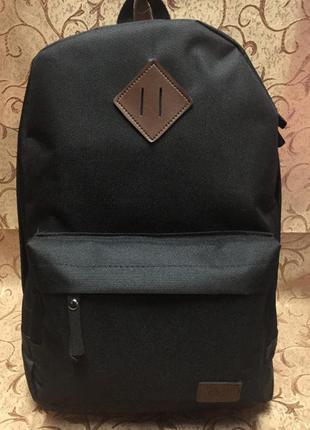 Рюкзак спортивный lee+кожа черный городской стильный