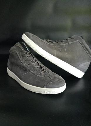 Кожание ботинки кеди оригинал от ecco, 45p