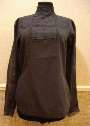 Летняя кофточка блуза с воротником