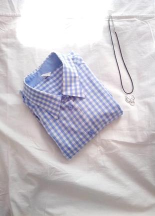 Классная модная рубашка в клетку оверсайз