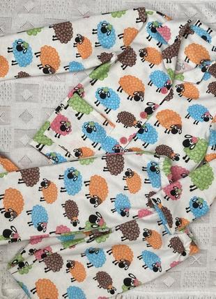 Пижама фланель цветные овечки