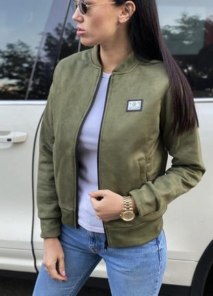Женская куртка замшевая
