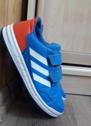 Adidas altasport кроссовки,синие,кожаные,осенние