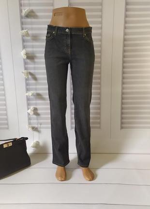 Джинсы брюки штаны тёмно-синие прямые, s/m