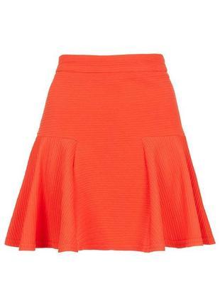 Распродажа! topshop яркая юбка из фактурной ткани, р.12, европ.40