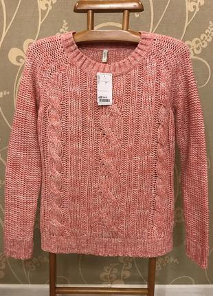 Нереально красивый и стильный брендовый вязаный тёплый свитерок.