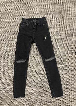 Оригинальные темно-серые джинсы от topshop