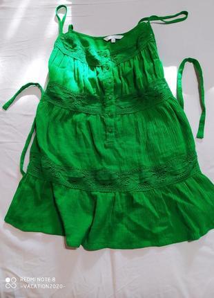 Зеленая майка блуза большого размера new look