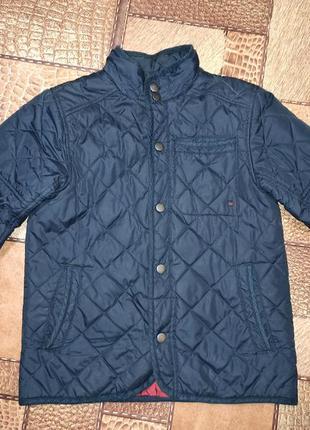 Куртка осенняя демисезонная стеганая ветровка пиджак 10лет