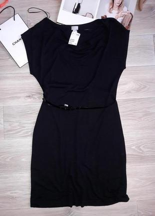 H&m отличное трикотажное платье с шелком р л. сток