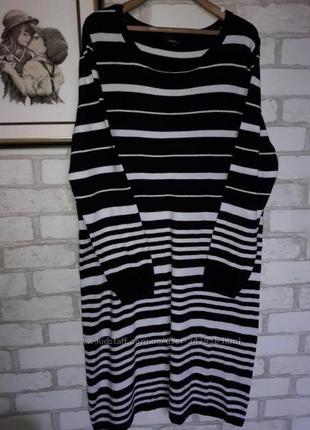 Next платье в полоску. хлопок . отличное р 18