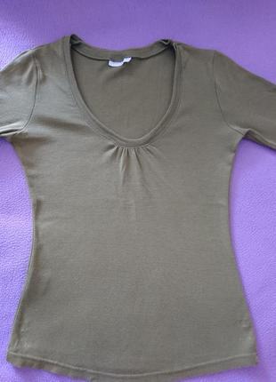 Matalan лонгслив, футболка с 3/4 рукав, кофточка цвет хаки