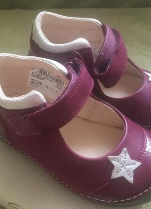 Кожаные нарядные туфельки оригинал clarks 22,5-23