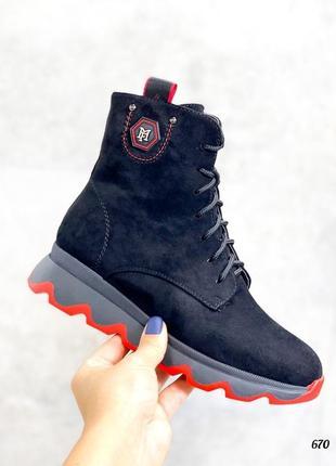 Спортивные зимние ботинки хайтопы