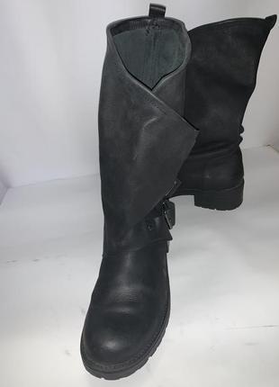 Кожаные ботинки милитари 39-40 р