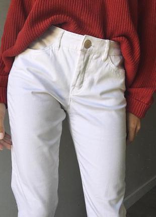 Белые штаны skinny leg