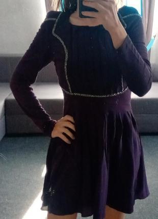 Нарядное платье с бисером