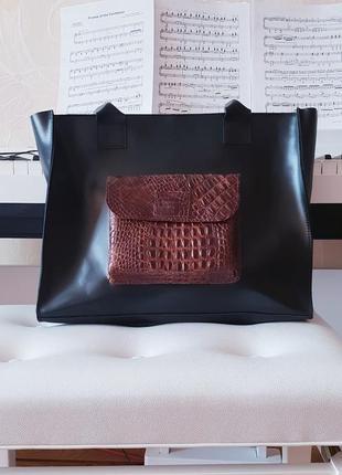 Шкіряна сумка squirrel's bag