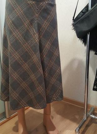 Классная стильная трендовая юбка в клетку новая